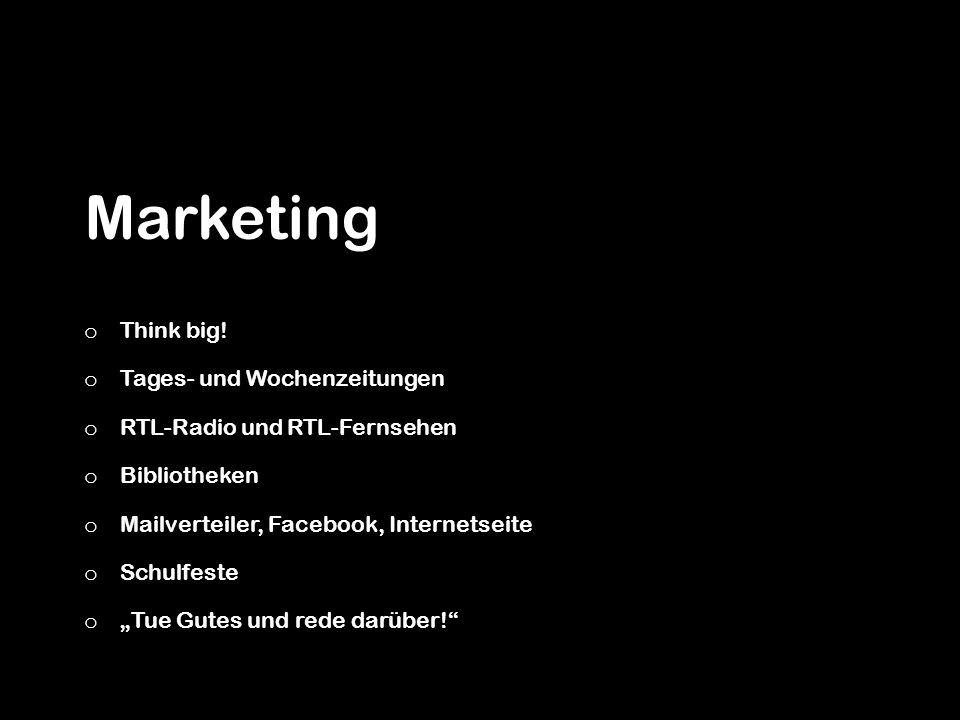 Marketing Think big! Tages- und Wochenzeitungen