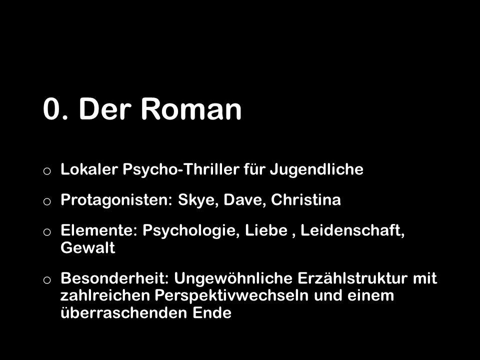 0. Der Roman Lokaler Psycho-Thriller für Jugendliche