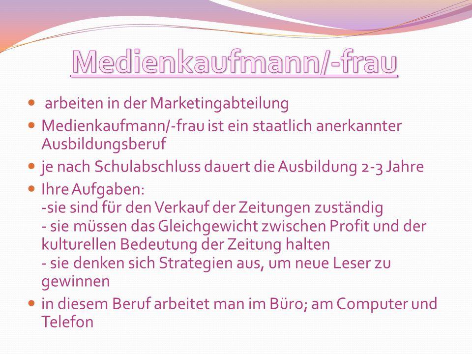 Medienkaufmann/-frau