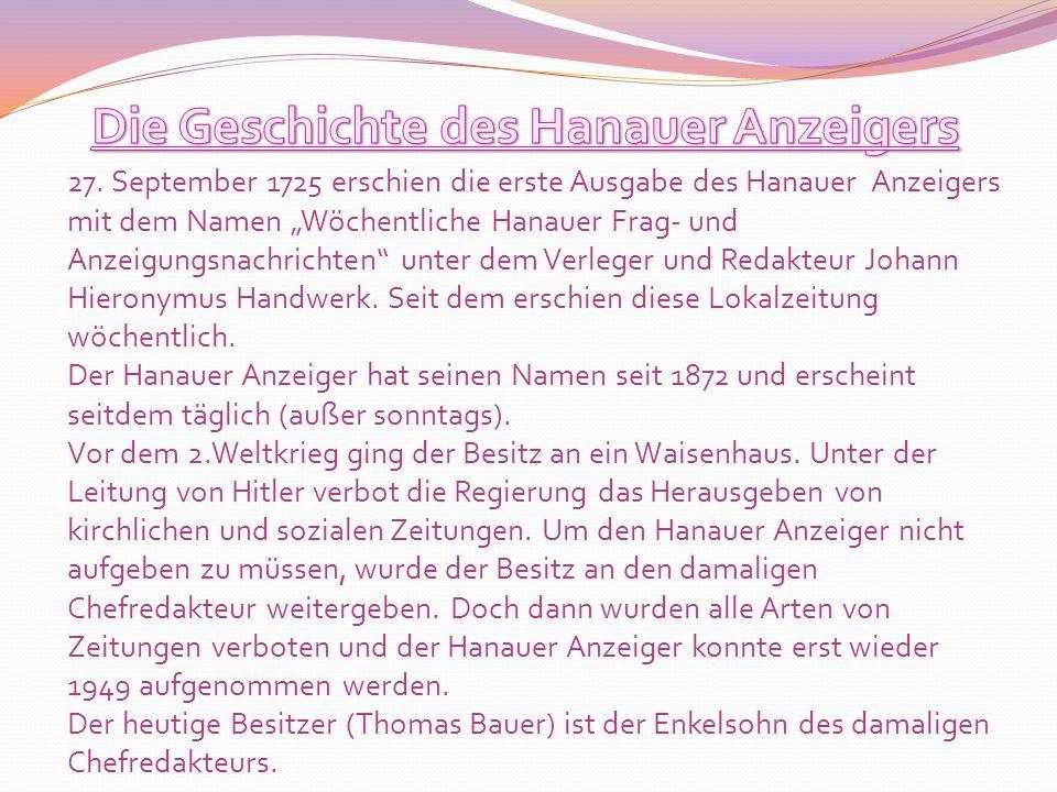 Die Geschichte des Hanauer Anzeigers