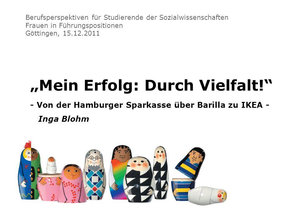 Berufsperspektiven für Studierende der Sozialwissenschaften Frauen in Führungspositionen Göttingen, 15.12.2011