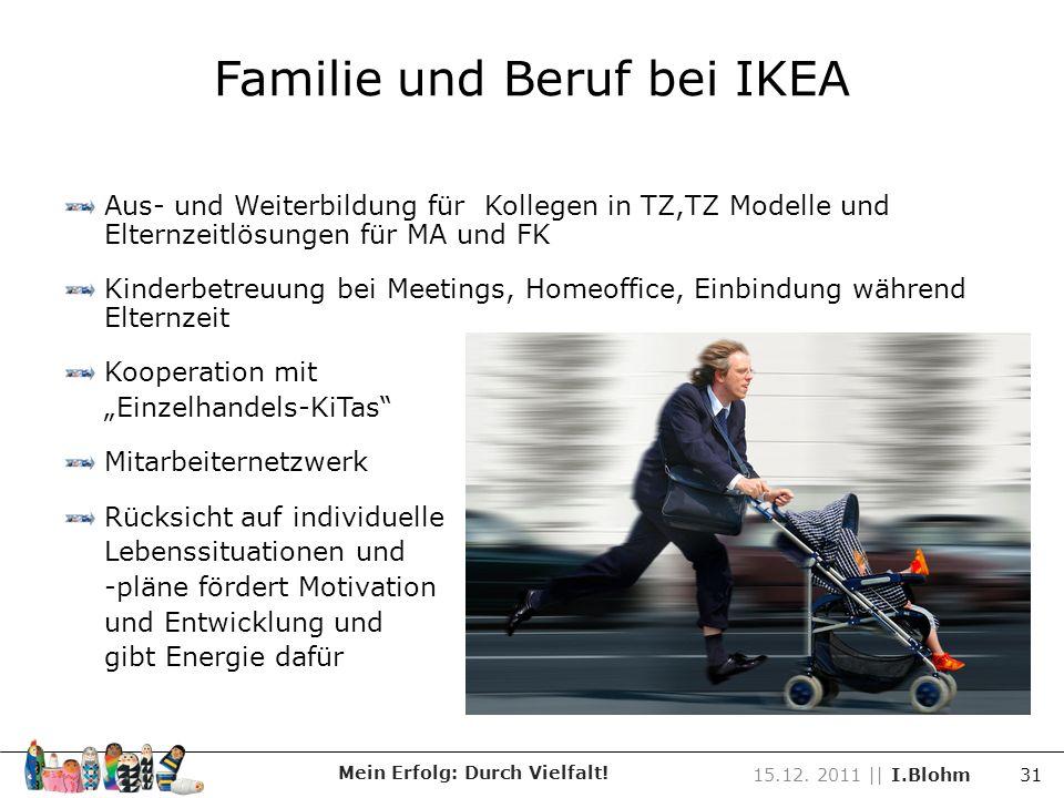 Familie und Beruf bei IKEA