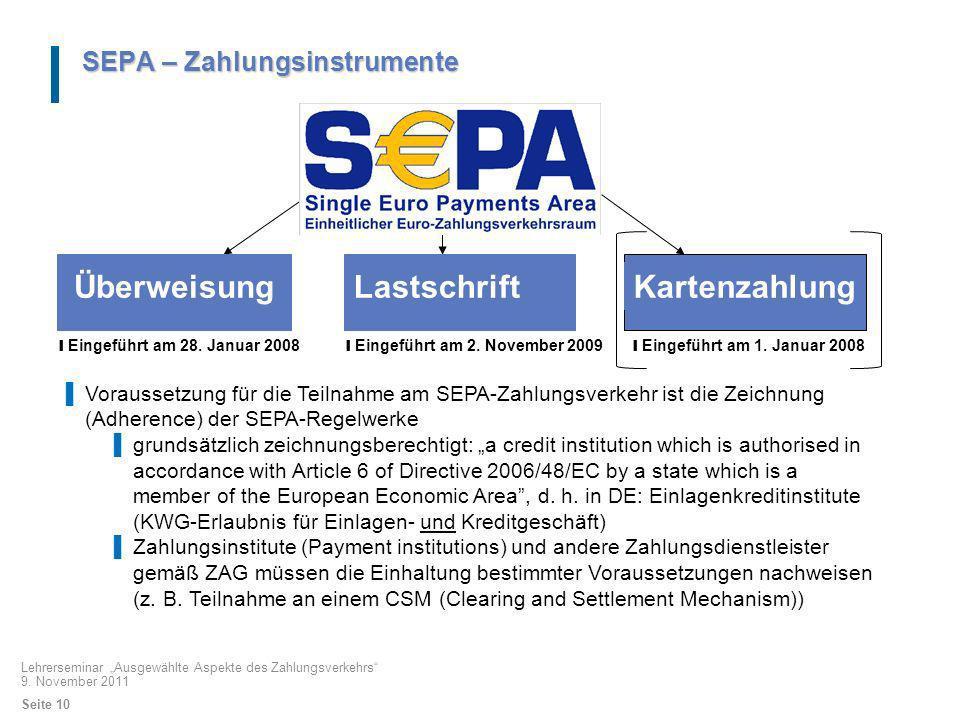 Überweisung Lastschrift Kartenzahlung SEPA – Zahlungsinstrumente