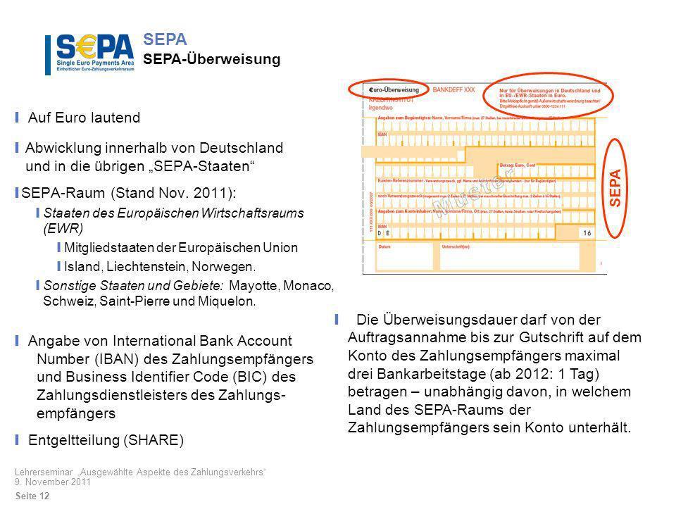 SEPA SEPA-Überweisung
