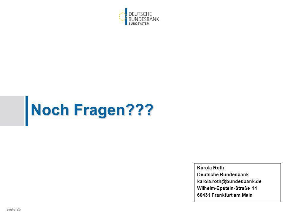 Noch Fragen Karola Roth Deutsche Bundesbank