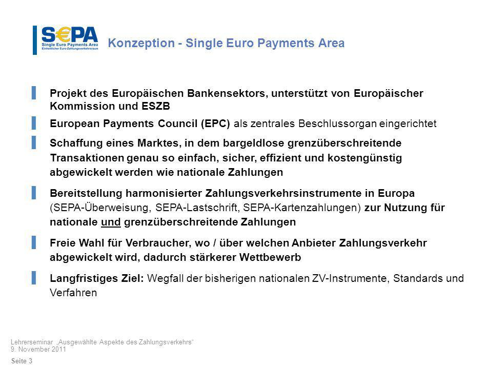 Konzeption - Single Euro Payments Area