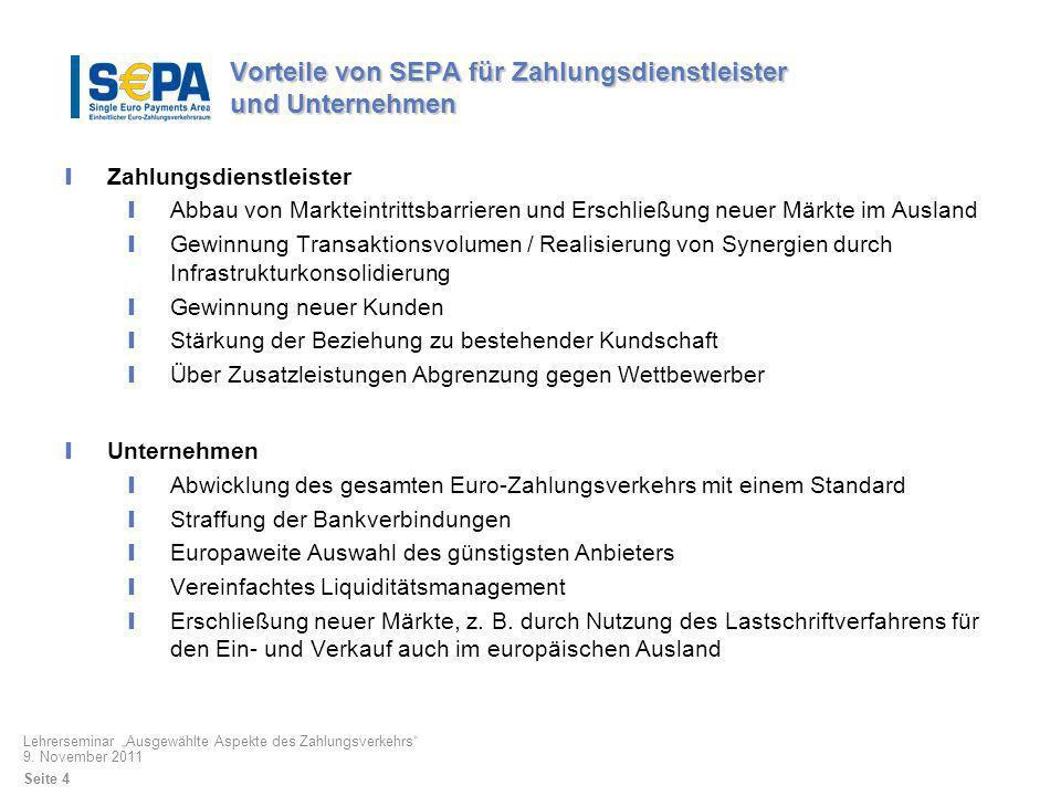 Vorteile von SEPA für Zahlungsdienstleister und Unternehmen