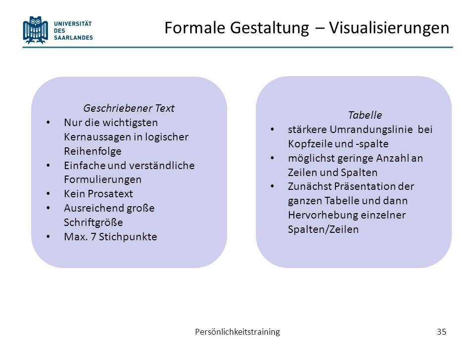 Formale Gestaltung – Visualisierungen