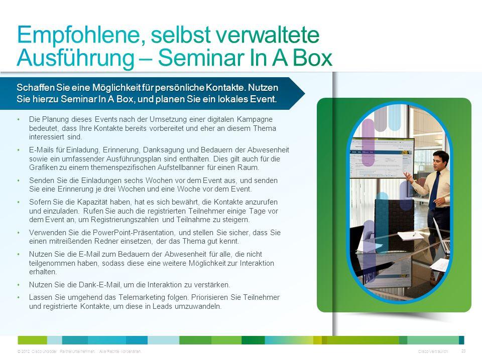 Empfohlene, selbst verwaltete Ausführung – Seminar In A Box