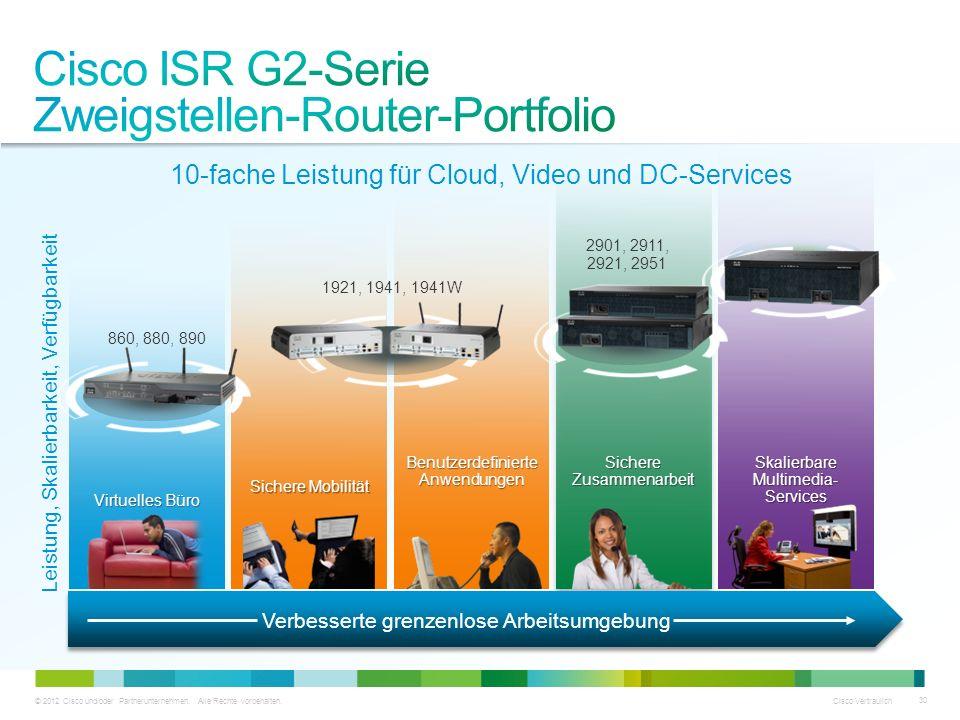 Cisco ISR G2-Serie Zweigstellen-Router-Portfolio