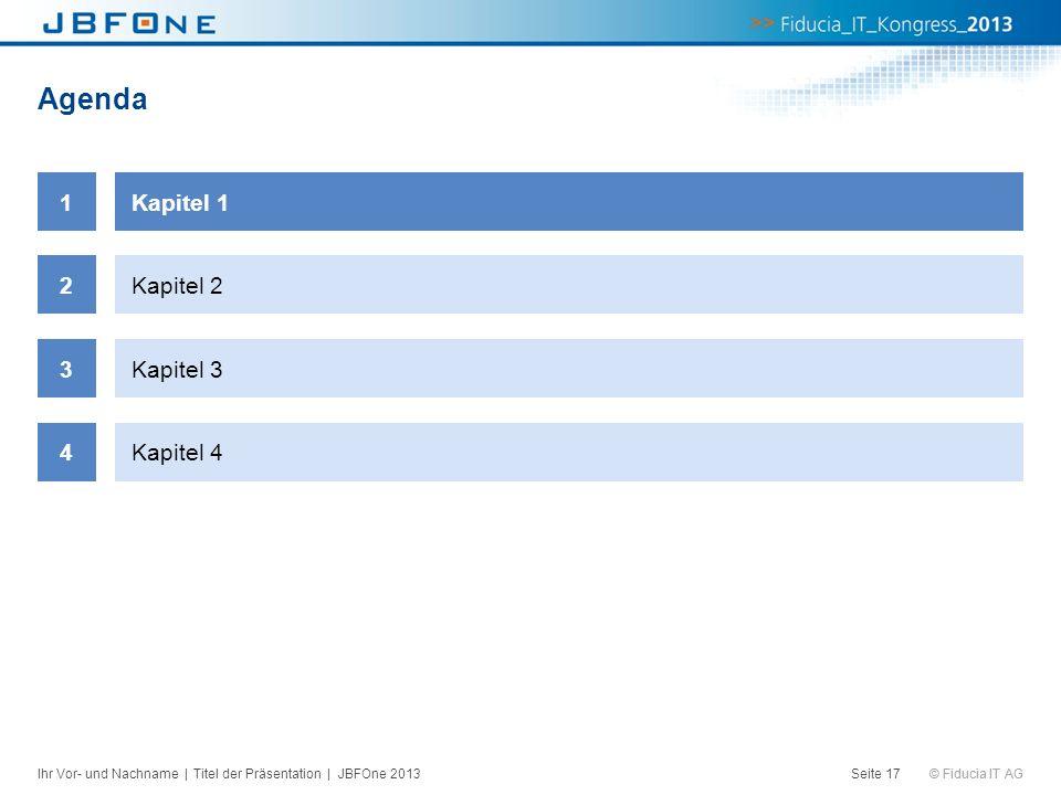 Agenda 1 Kapitel 1 2 Kapitel 2 3 Kapitel 3 4 Kapitel 4
