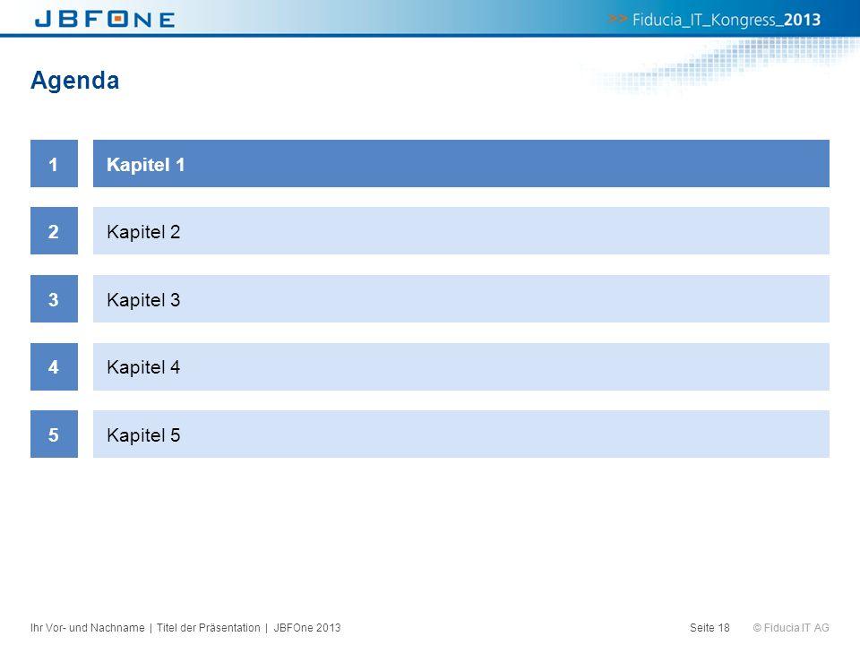 Agenda 1 Kapitel 1 2 Kapitel 2 3 Kapitel 3 4 Kapitel 4 5 Kapitel 5