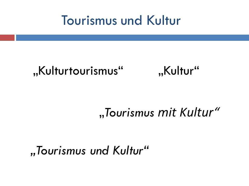 """""""Kulturtourismus """"Kultur"""