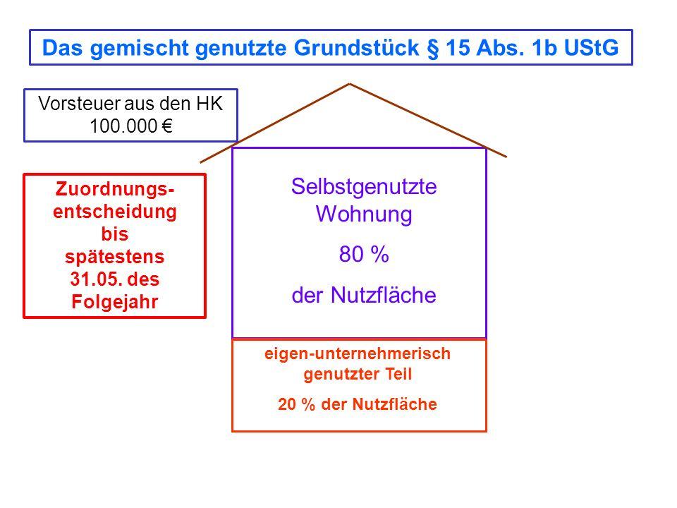 Das gemischt genutzte Grundstück § 15 Abs. 1b UStG
