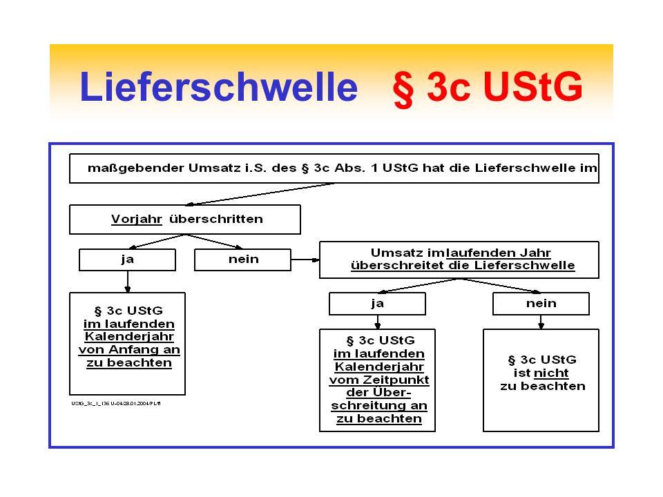 Lieferschwelle § 3c UStG