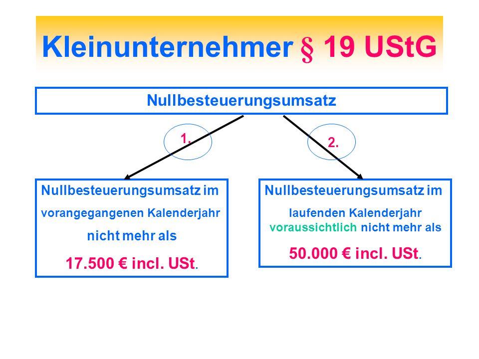 Kleinunternehmer § 19 UStG