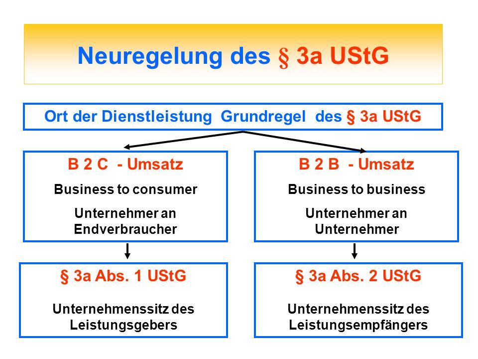 Neuregelung des § 3a UStG
