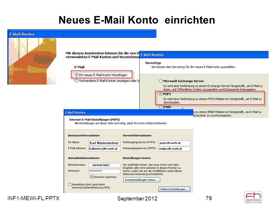 Neues E-Mail Konto einrichten