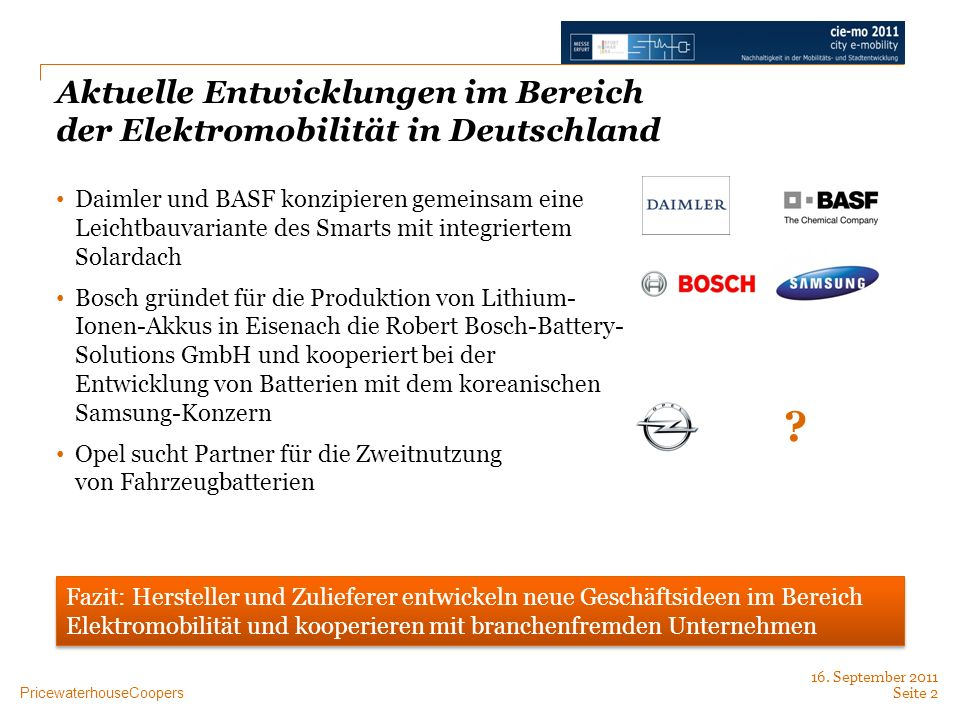 Aktuelle Entwicklungen im Bereich der Elektromobilität in Deutschland