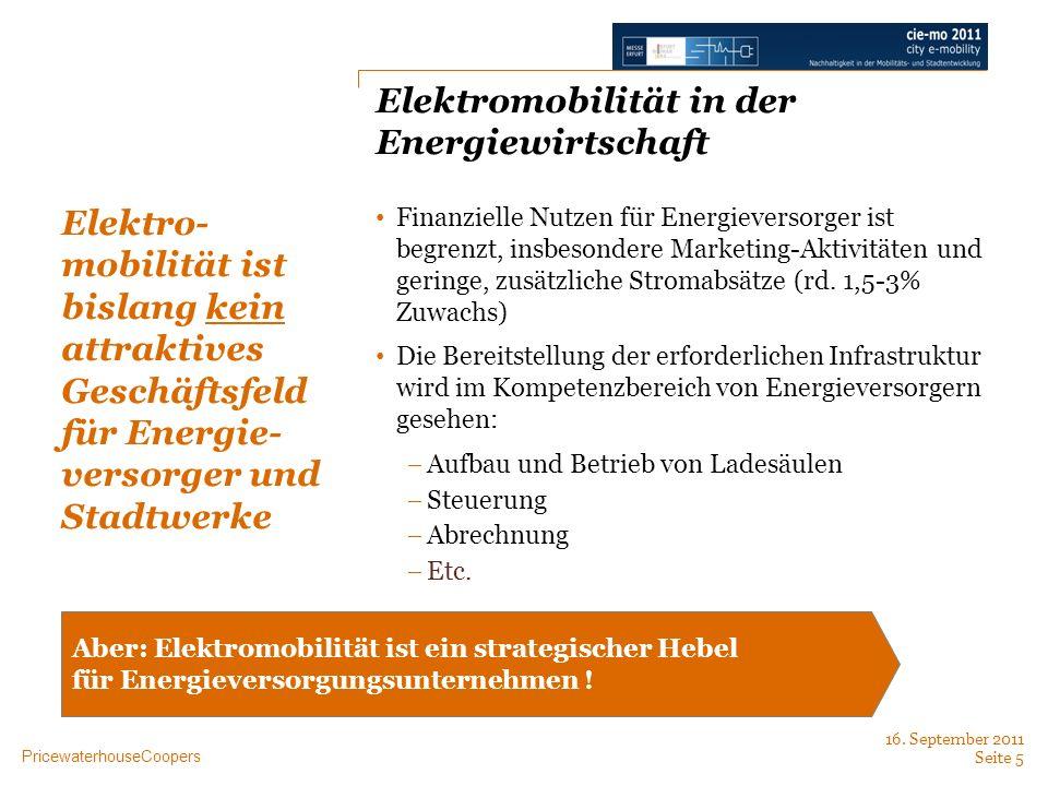 Elektromobilität in der Energiewirtschaft