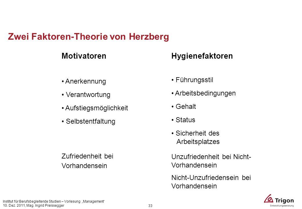 Zwei Faktoren-Theorie von Herzberg