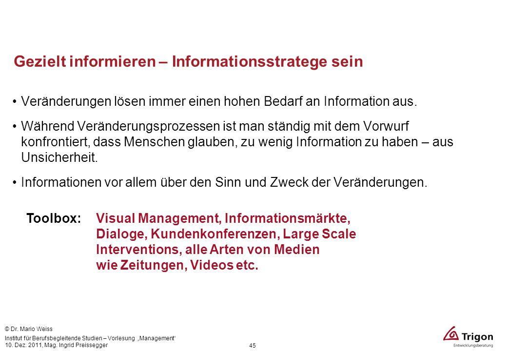 Gezielt informieren – Informationsstratege sein