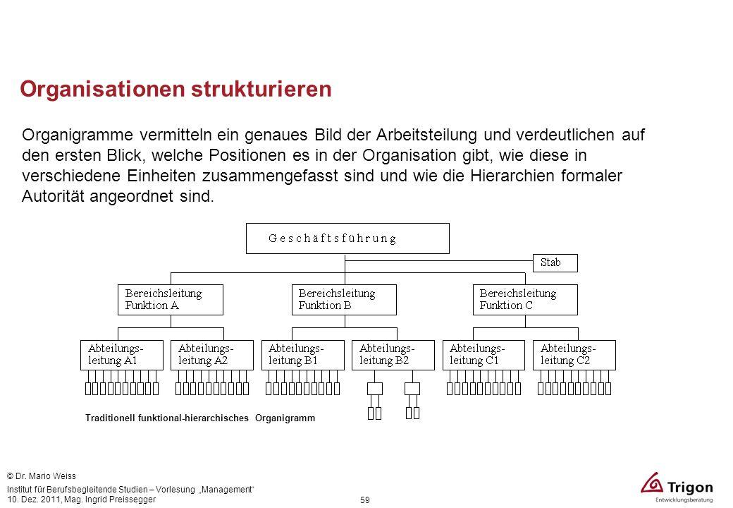 Organisationen strukturieren