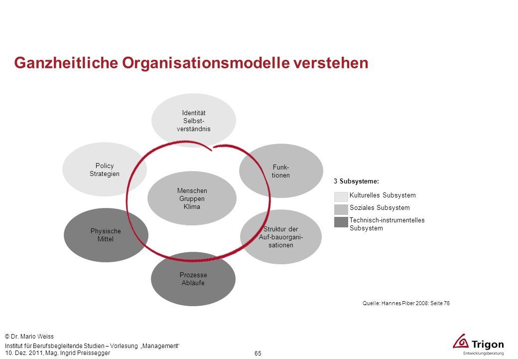 Ganzheitliche Organisationsmodelle verstehen