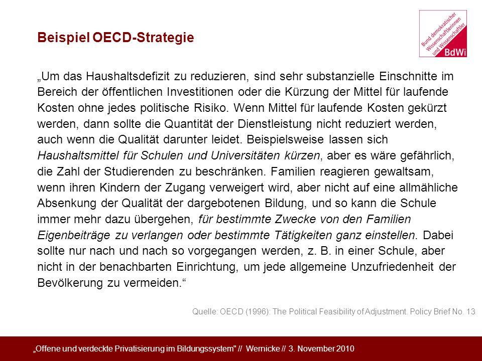 Beispiel OECD-Strategie