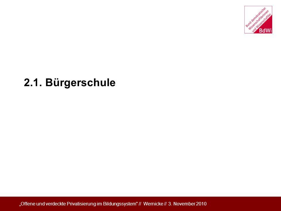 2.1. Bürgerschule