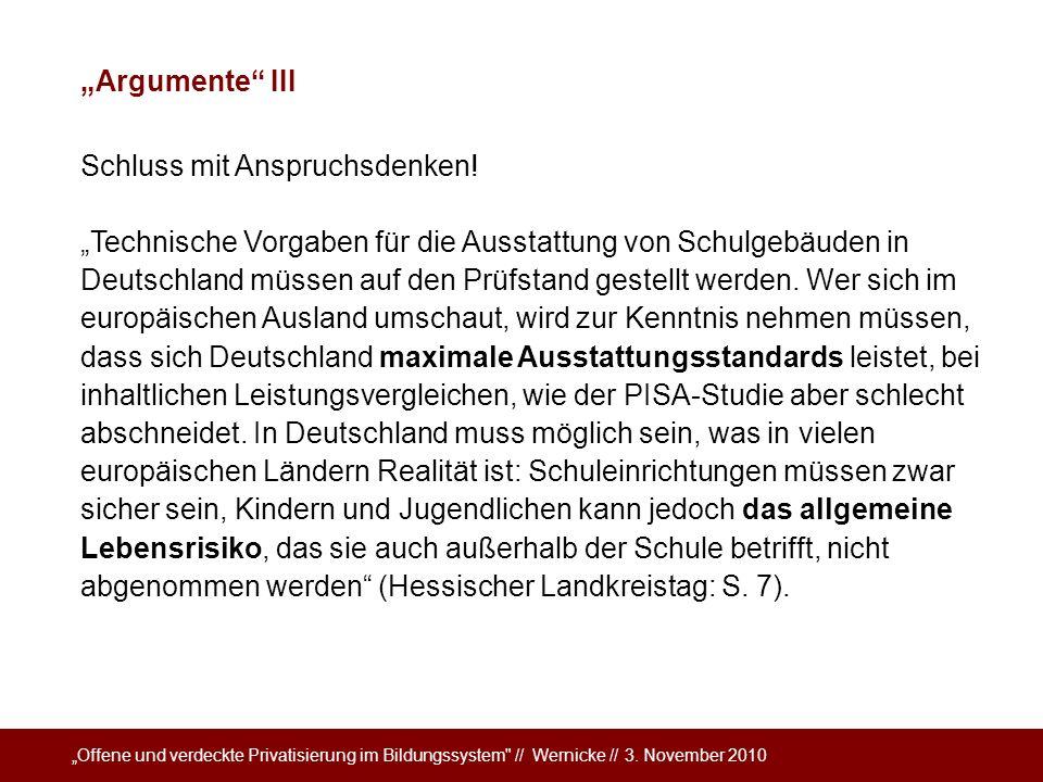 """""""Argumente III Schluss mit Anspruchsdenken!"""