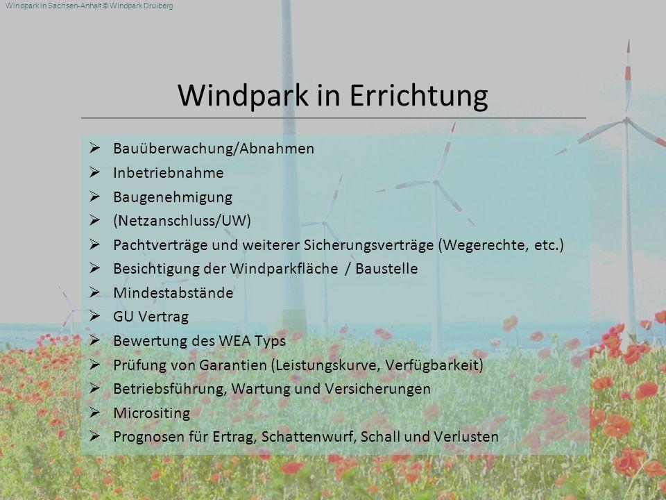 Windpark in Errichtung