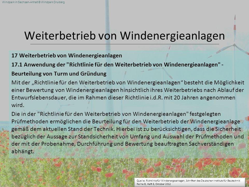 Weiterbetrieb von Windenergieanlagen