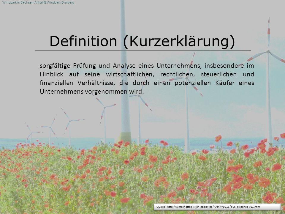 Definition (Kurzerklärung)