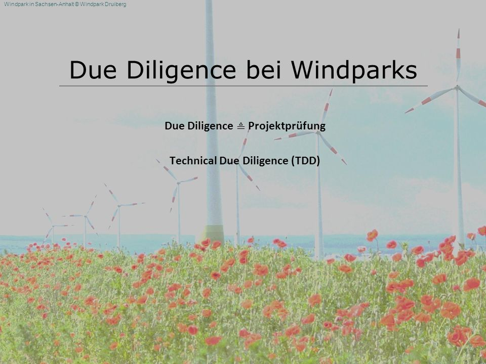 Due Diligence bei Windparks