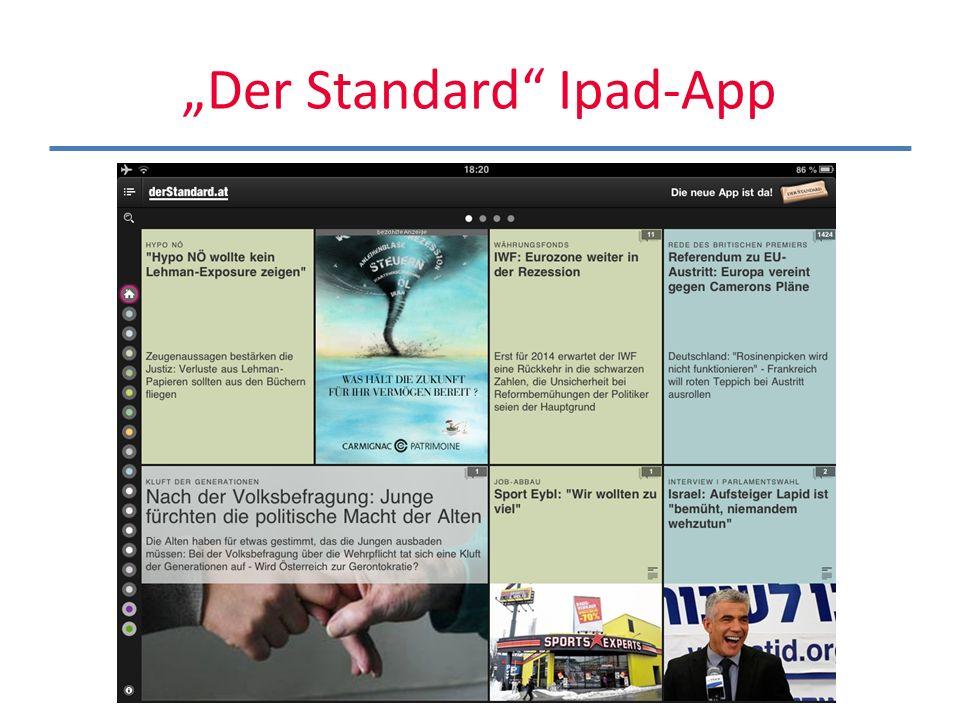 """Der Standard Ipad-App"