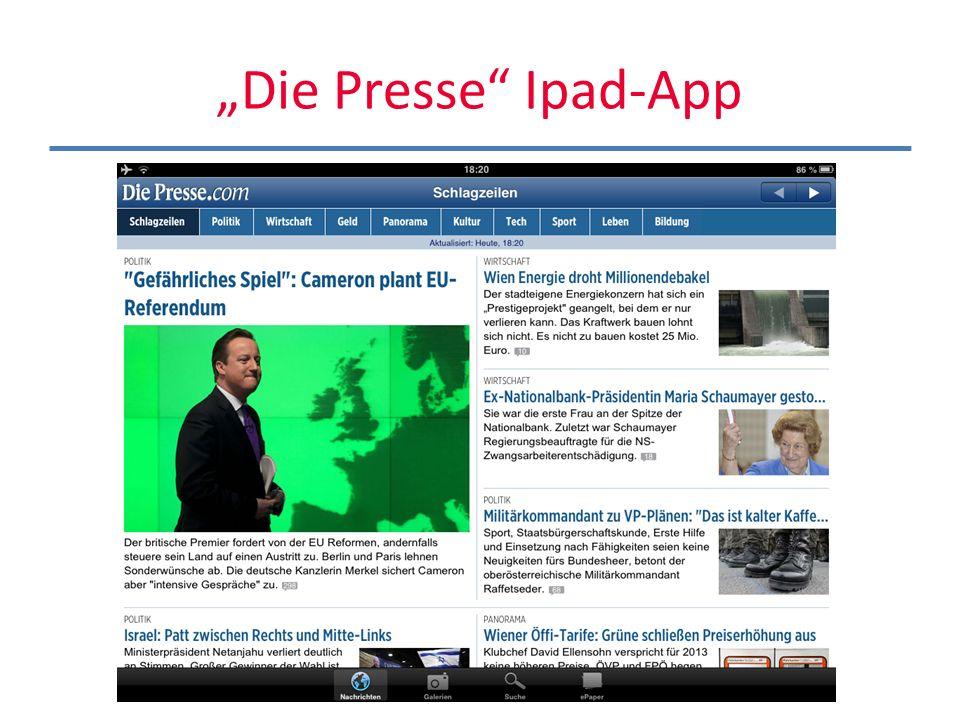 """""""Die Presse Ipad-App"""