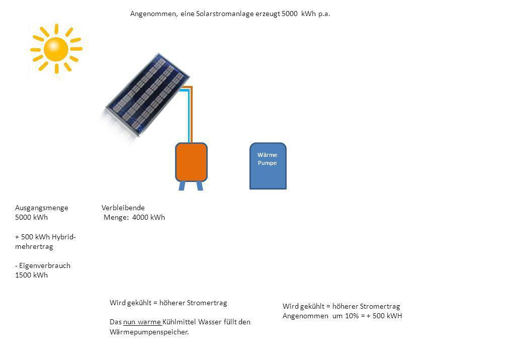 Angenommen, eine Solarstromanlage erzeugt 5000 kWh p.a.