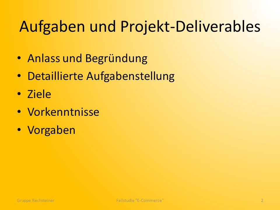 Aufgaben und Projekt-Deliverables