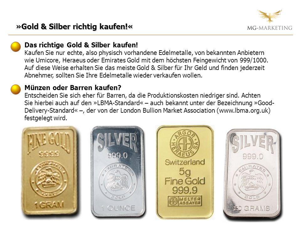 »Gold & Silber richtig kaufen!«