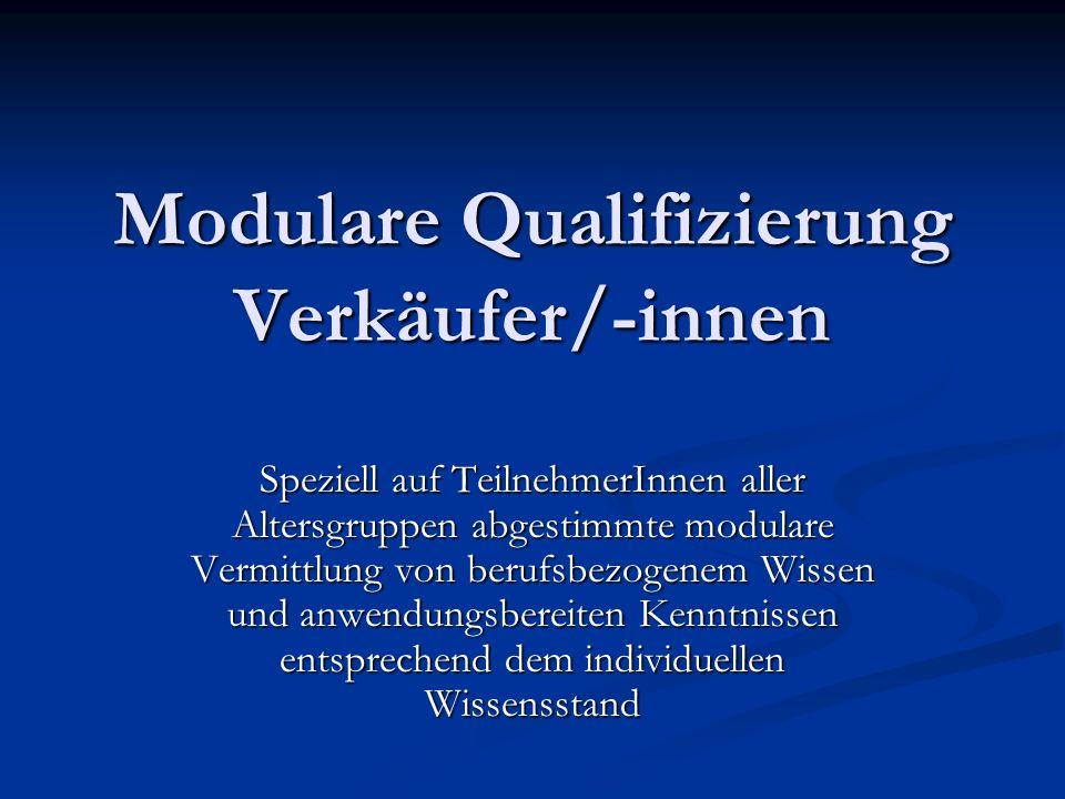 Modulare Qualifizierung Verkäufer/-innen