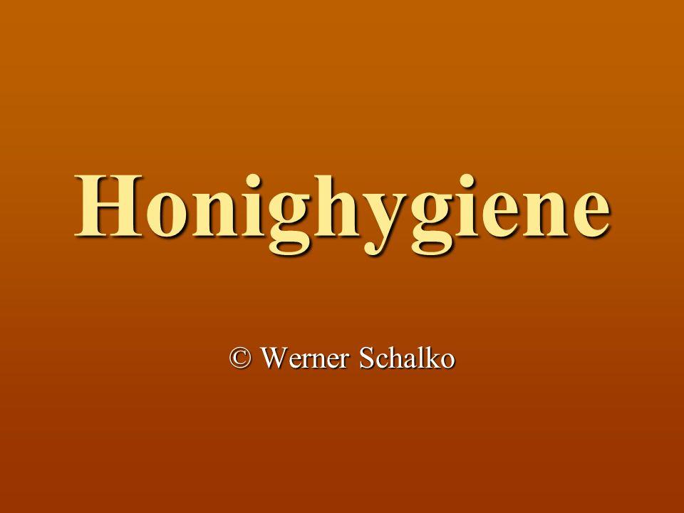 Honighygiene © Werner Schalko
