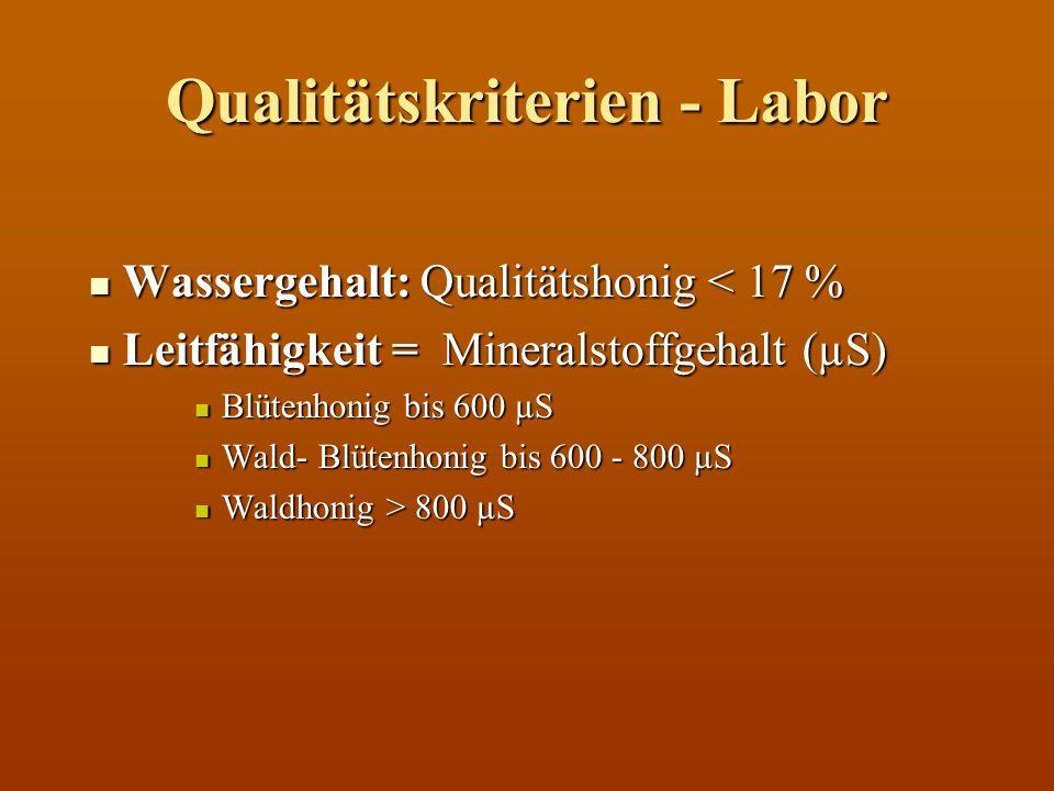 Qualitätskriterien - Labor