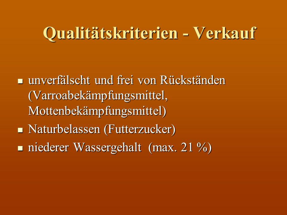 Qualitätskriterien - Verkauf
