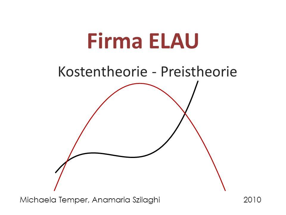 Kostentheorie - Preistheorie