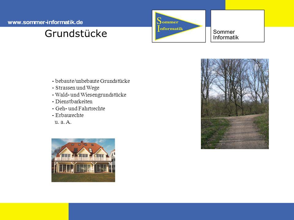 Grundstücke - bebaute/unbebaute Grundstücke - Strassen und Wege