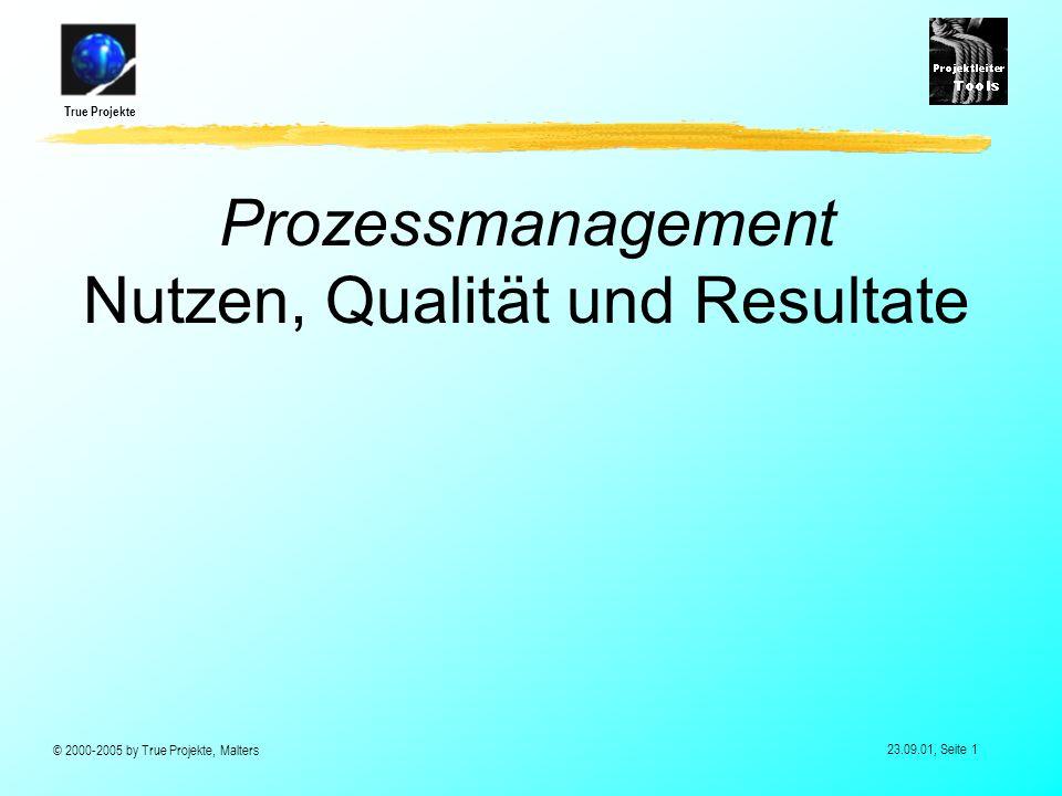 Prozessmanagement Nutzen, Qualität und Resultate