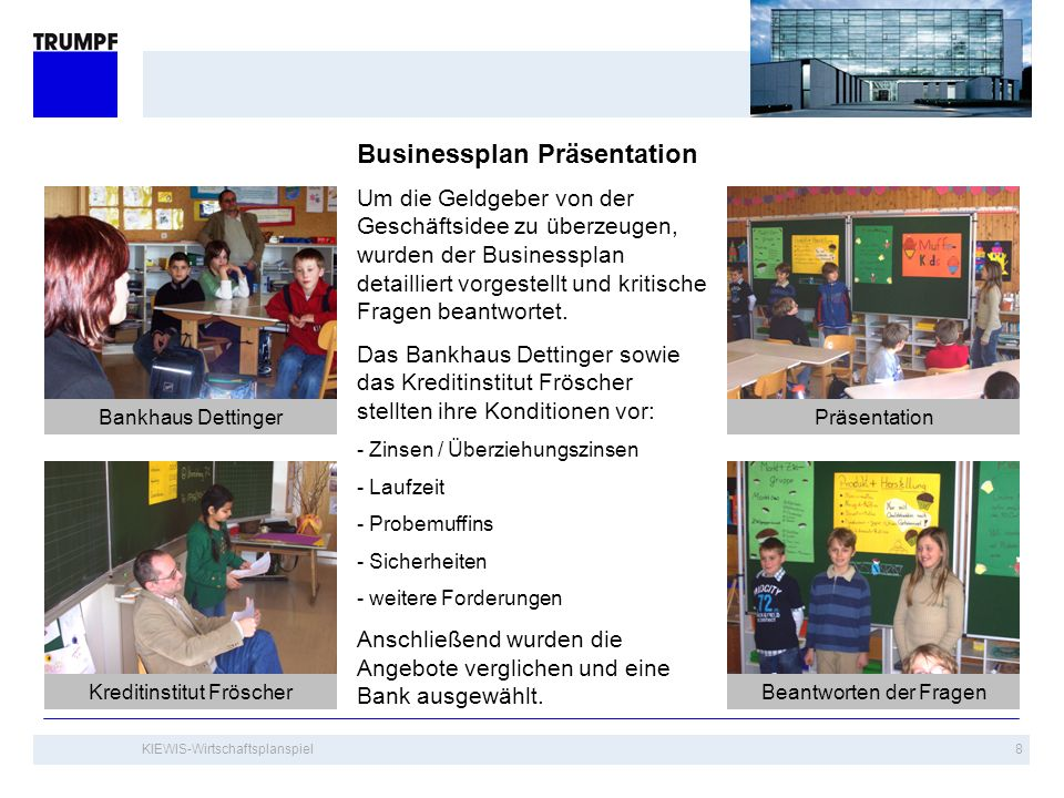 Businessplan Präsentation