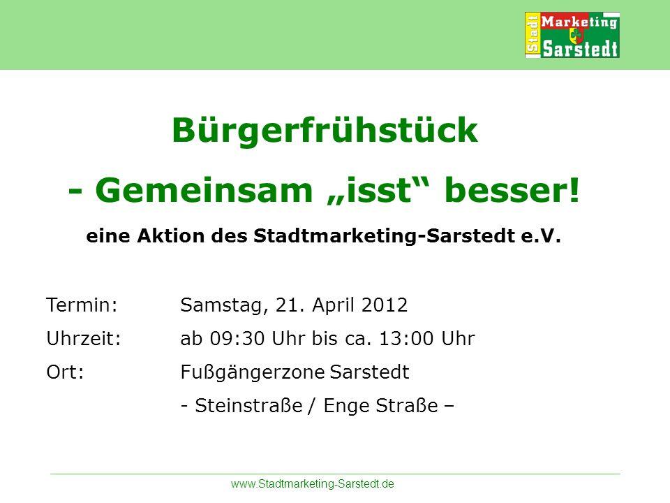 """Bürgerfrühstück - Gemeinsam """"isst besser"""