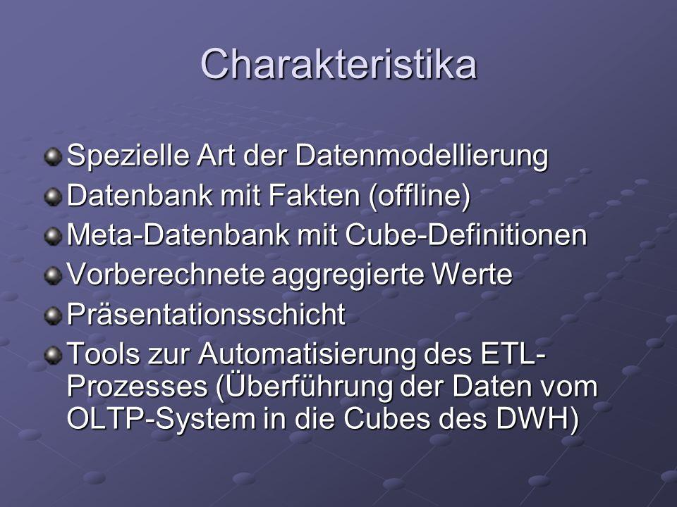 Charakteristika Spezielle Art der Datenmodellierung